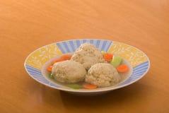 球发酵的硬面汤 免版税库存照片
