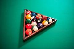 球台球五颜六色的集 库存照片