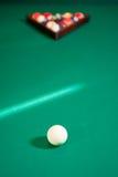 球台球五颜六色的集 免版税库存照片