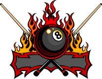 球台球设计八火焰状模板 库存图片