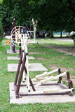 球员和锻炼在公园 免版税图库摄影