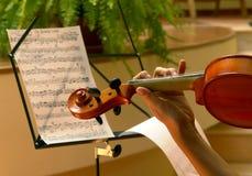 球员小提琴 免版税库存照片