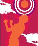 球员紫色足球 免版税库存照片