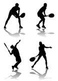 球员网球向量 免版税库存照片