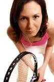 球员网球妇女 免版税库存图片