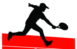 球员网球 向量例证
