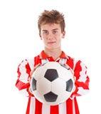 球员足球年轻人 免版税库存照片