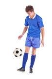球员足球年轻人 免版税图库摄影