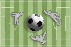 球图标球员足球 免版税库存图片