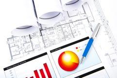 球图纸绘制文件笔图表 库存图片