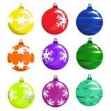 球圣诞树向量 免版税库存图片