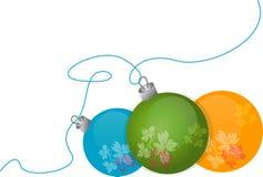 球圣诞树 库存照片