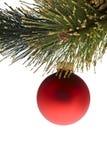 球圣诞树 库存图片