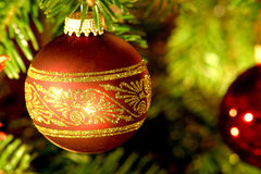 球圣诞树 图库摄影