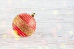 球圣诞节一个红色 库存图片