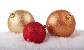 球圣诞节三 图库摄影