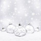 球圣诞节五白色 图库摄影