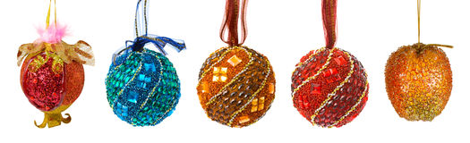 球圣诞节五颜六色的集 免版税图库摄影