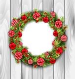 球圣诞节例证向量花圈 向量例证