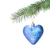 球圣诞节冷杉雪结构树 免版税库存照片