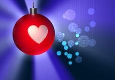 球圣诞节发光 库存图片