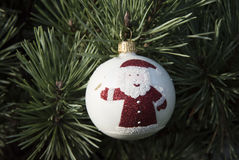 球圣诞节圣诞老人 免版税库存图片