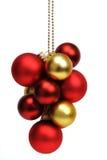 球圣诞节字符串 免版税库存照片
