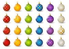 球圣诞节彩色组 皇族释放例证