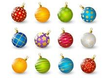 球圣诞节彩色组 向量例证