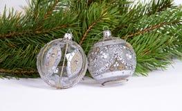 球圣诞节新年度 库存照片