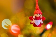 球圣诞节查出的心情三白色 免版税库存图片