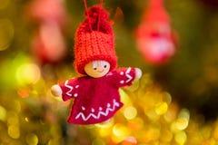 球圣诞节查出的心情三白色 免版税库存照片
