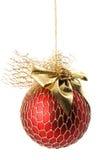 球圣诞节查出的白色 免版税库存照片