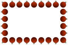 球圣诞节框架 免版税库存照片
