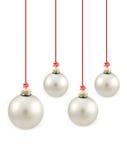 球圣诞节灰色 免版税库存照片
