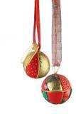 球圣诞节照片垂直 免版税库存图片