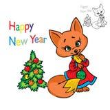 球圣诞节狐狸 向量例证