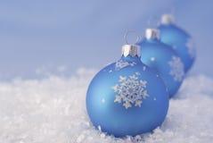 球圣诞节玻璃 免版税库存图片