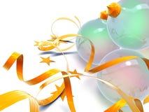 球圣诞节玻璃 免版税库存照片