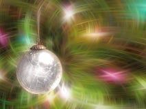 球圣诞节白色 库存图片