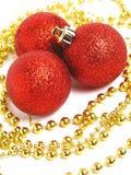 球圣诞节红色 免版税库存照片