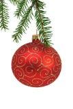 球圣诞节红色 免版税库存图片