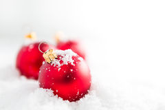 球圣诞节红色 免版税图库摄影