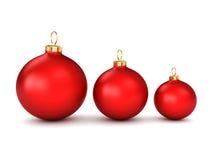 球圣诞节红色 向量例证