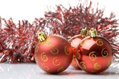 球圣诞节红色 库存照片