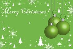 球圣诞节绿色 库存例证