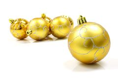 球圣诞节装饰品 库存照片