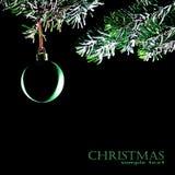 球圣诞节装饰查出的结构树xmas 库存照片