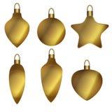 球圣诞节装饰金子 库存图片