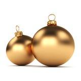球圣诞节装饰金子 免版税图库摄影